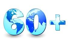 Heure 60 de la terre plus Photo stock