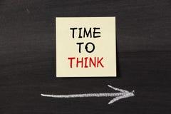 Heure de penser Image libre de droits