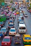 Heure de pointe à Bangkok, Thaïlande Photographie stock libre de droits