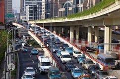 Heure de pointe à Changhaï Image stock