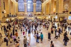 Heure de pointe dans la station centrale grande Photos stock