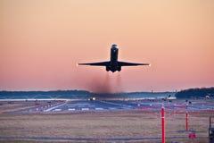 Heure de pointe de soirée à l'aéroport Photo stock