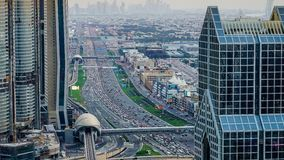 Heure de pointe de Dubaï banque de vidéos