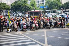 Heure de pointe, Pékin, Chine Image libre de droits