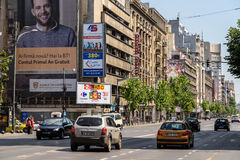 Heure de pointe sur Gheorghe Magheru Boulevard Of Bucharest Images stock