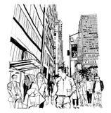 Heure de pointe sur la 5ème avenue à Manhattan illustration libre de droits