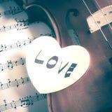 Heure de pratiquer le violon Image libre de droits