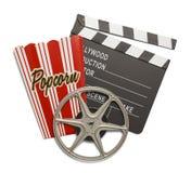 Heure de projection du film photos libres de droits