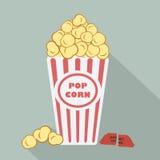 Heure de projection du film de maïs éclaté Photographie stock libre de droits