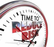 Heure de réduire le danger de réduction d'horloge de risque illustration stock