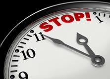 Heure de s'arrêter Photographie stock libre de droits
