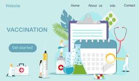 Heure de vacciner illustration stock