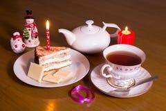 Heure du thé le soir image stock