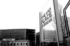 Heure et endroit de se casser à Tallinn Images libres de droits
