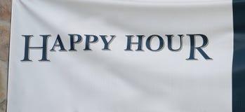 Heure heureuse à la barre de cocktail Image libre de droits