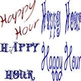 Heure heureuse Images libres de droits