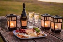 Heure heureuse de coucher du soleil photo libre de droits