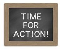 Heure pour l'action image libre de droits