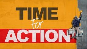 Heure pour l'action Photos libres de droits
