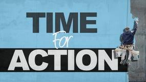 Heure pour l'action Images libres de droits