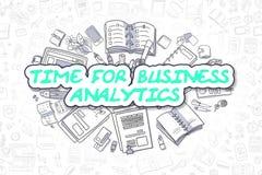 Heure pour l'Analytics d'affaires - concept d'affaires Photographie stock libre de droits