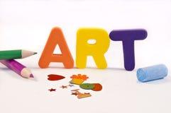 Heure pour l'art. Image stock