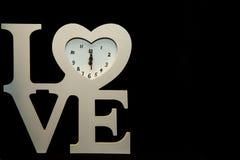 Heure pour l'horloge de blanc d'amour Photo libre de droits