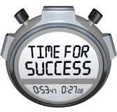 Heure pour la course de victoire de chronométreur de chronomètre de mots de succès Images libres de droits