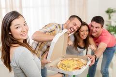 Heure pour la pizza Photo stock