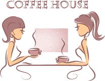 Heure pour le café, le vecteur de fond Images libres de droits
