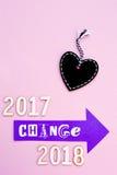Heure pour le changement - 2017 à 2018 Image libre de droits