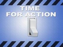Heure pour le concept d'action illustration libre de droits