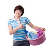 Heure pour le jour de blanchisserie. Images stock