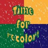 Heure pour le recolor ! Images libres de droits