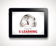 Heure pour le signe d'apprentissage en ligne Photographie stock