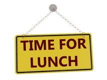 Heure pour le signe de déjeuner illustration libre de droits