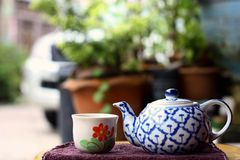 Heure pour le thé Photos stock