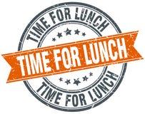 Heure pour le timbre de déjeuner illustration stock
