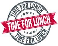 Heure pour le timbre de déjeuner illustration libre de droits