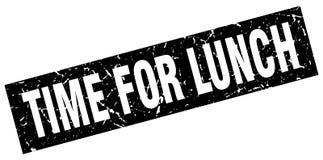 Heure pour le timbre de déjeuner illustration de vecteur