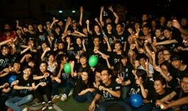 Heure volontaire de la terre de jeunes Image libre de droits