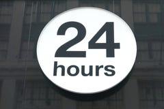 24 heures Photos libres de droits