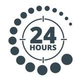 24 heures autour de noir Image stock