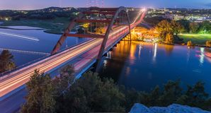 360 heures bleues Austin, le Texas, Etats-Unis de pont de Pennybacker Photos stock