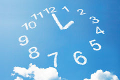 2 heures dans le style de nuage Image stock
