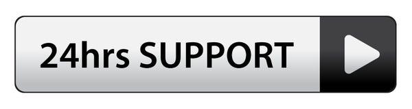 24 heures de bouton de soutien illustration stock