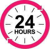 24 heures de logo illustration de vecteur