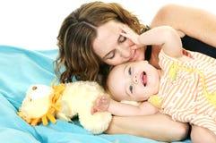 Heures de récréation avec la maman photo stock