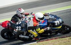 24 HEURES DE RÉSISTANCE DE MOTOCYCLISME DE BARCELONE Image stock