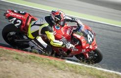 24 HEURES DE RÉSISTANCE DE MOTOCYCLISME DE BARCELONE Image libre de droits